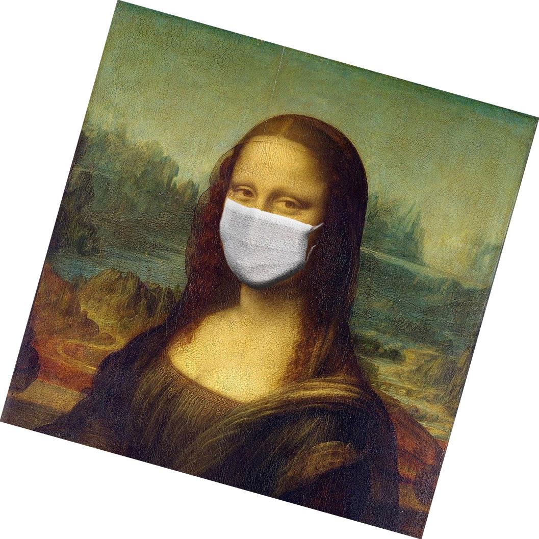 Monalisa mit Alltagsmaske
