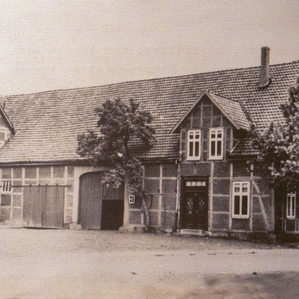 Hof der Familie Gümmer um 1900